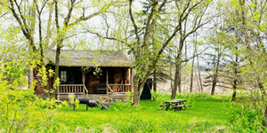 Camp In Comfort. Cabin Camping In Indiana