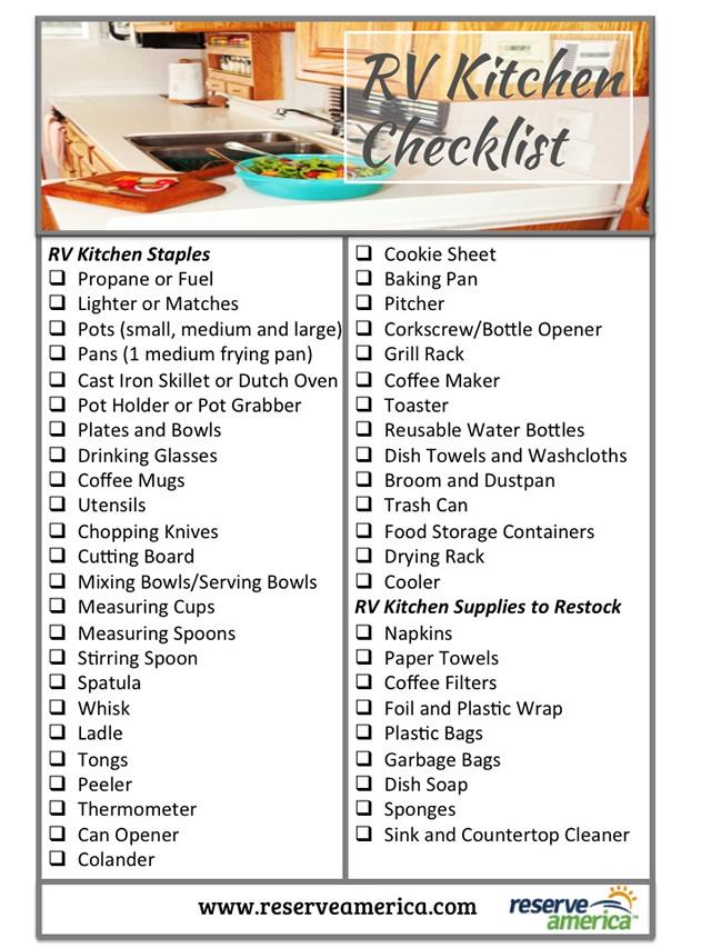 Rv Checklist Infographic