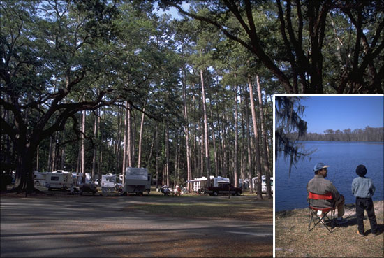 Camp Near The Calming Waters Of The Tchefuncte River