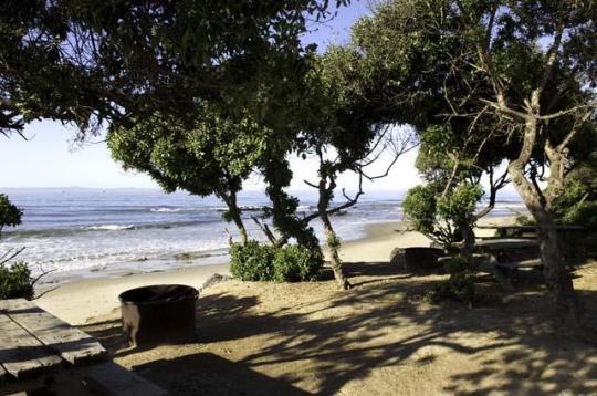 Campsites California Beach