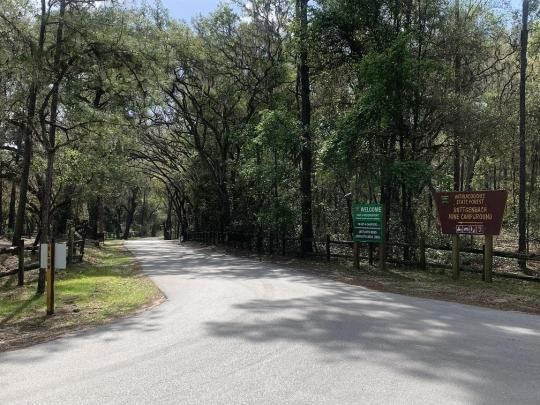 Camping At Buttgenbach Campground At Croom Motorcycle Area Fl