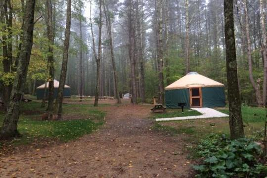 Camping at Wells State Park MA