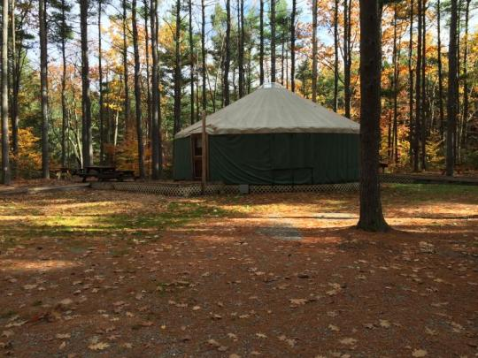 camping at willard brook state forest  ma
