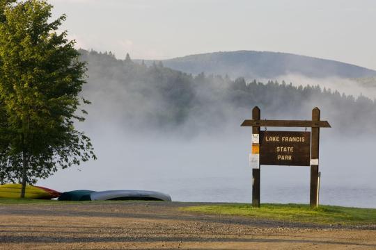 Camping at lake francis state park nh for Do senior citizens need a fishing license