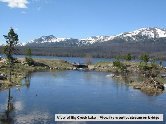 Camping at big creek lakes campground co for Buy colorado fishing license