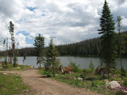 Top Elevation Plan : Teal lake group campsite co facility details