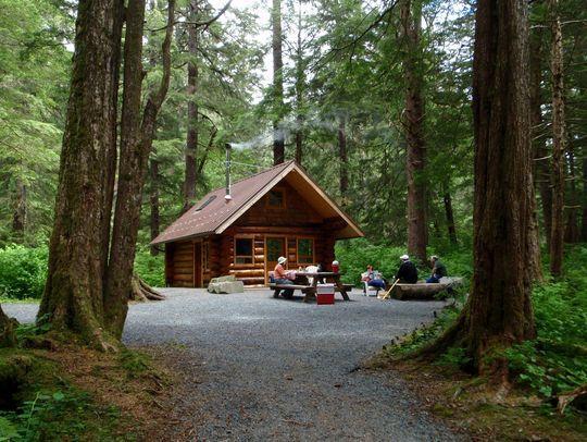 Camping At Starrigavan Creek Cabin Ak