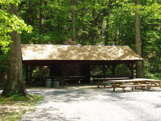 Camping Lake Como >> Camping at SHERANDO LAKE GROUP PICNIC SHELTER, VA