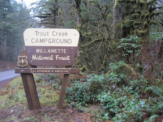 Camping At TROUT CREEK CAMPGROUND OR