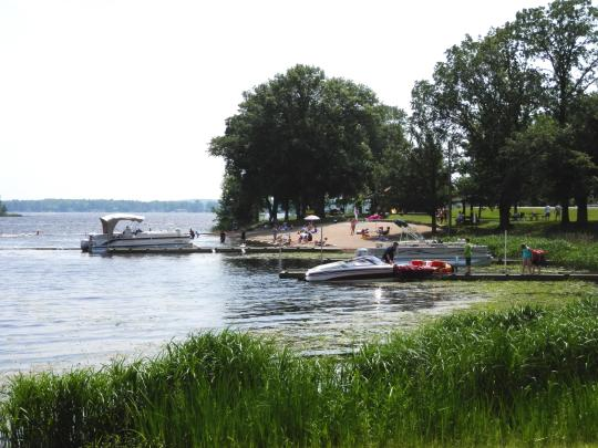 camping at sandy lake mn