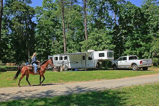 Camping at CANEBRAKE HORSE CAMP, NC