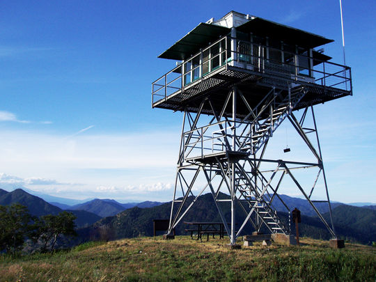Camping at hirz mountain lookout ca for Lookout tower house