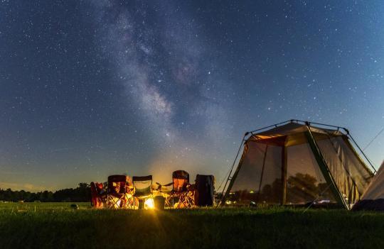 Camping at SAMPSON STATE PARK, NY