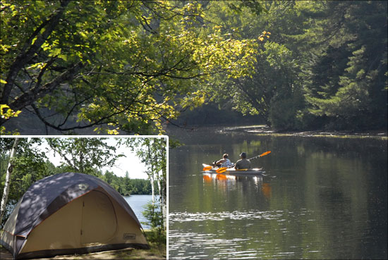 Fish creek pond campground offers a natural sand shoreline for Fish creek pond