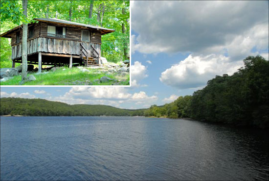Rustic beauty for Harriman state park fishing