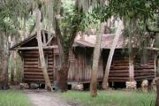Historic, rustic cabin built by the Civilian Conservation Corp in the 1930s that can be rented for overnight stays.