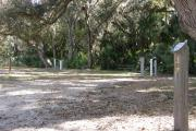 Campsite 27 has several large live oak trees that provide shade for the campsite. This site is very close to site 26.