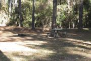 Photo: RODMAN CAMPGROUND. View of campsite with picnic table and fire ring.