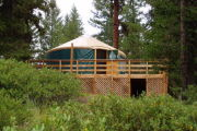 Photo: Whispering Pines Yurt, Gold Fork Parking