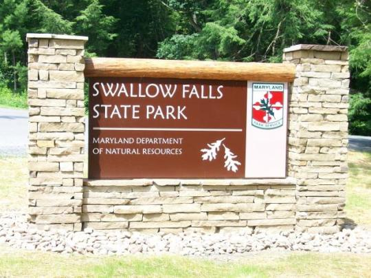Swallow falls state park md facility details for Md fishing license cost