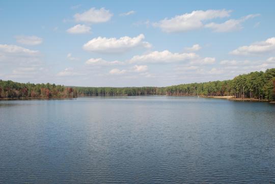 Camping at Jordan Lake State Rec Area, NC