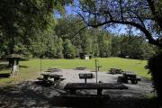 Photo: COVE CREEK UPPER GROUP CAMP FIRE RING AND PICNIC AREA