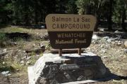 Photo: SALMON LA SAC CAMPGROUND SIGN