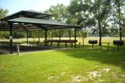 Sandy Creek Group Shelter - BBQ pits and side area