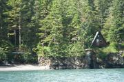 View of Cabin and Landing Beach in Pigot Bay