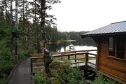 Back side of Goose Bay Cabin