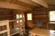 Interior photo of Goose Bay Cabin