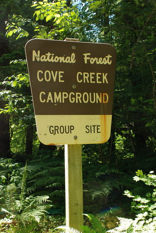 Top Elevation Plan : Camping at cove creek or