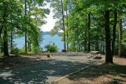 Photo: BADIN LAKE CAMPGROUND: Typical campsite with shoreline access