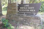 Lake Winfield Scott Entrance Sign