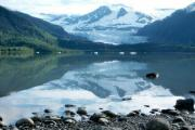 View of Mendenhall Glacier from Campground