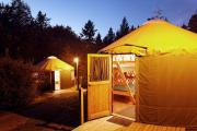 Photo: Yurt Village