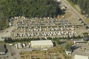 Aerial shot of RV parking